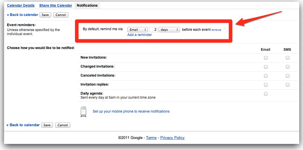 Create Google Calendar Event Email